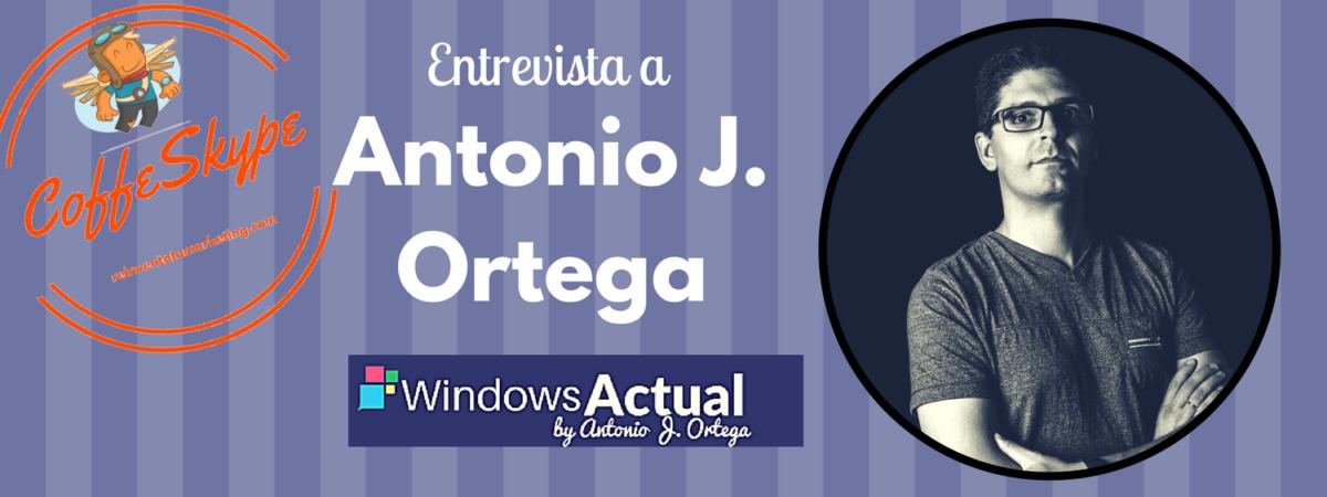 Coffeskype Antonio J. Ortega. Experto en Microsoft