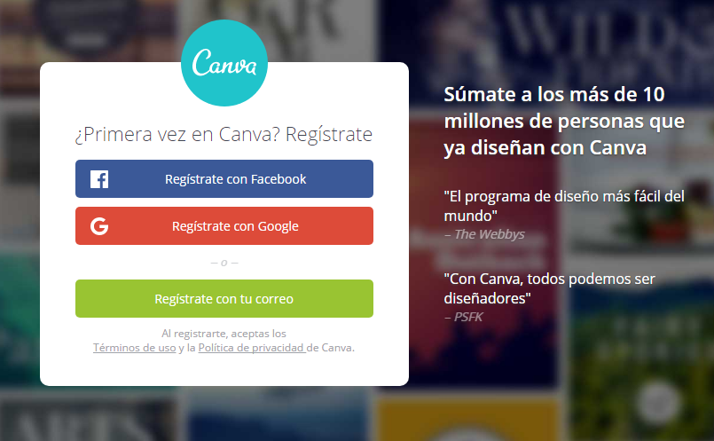 Canva REGISTRARSE